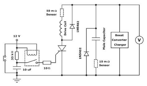 coilgun capacitor circuit experiments thyristor fired coilgun
