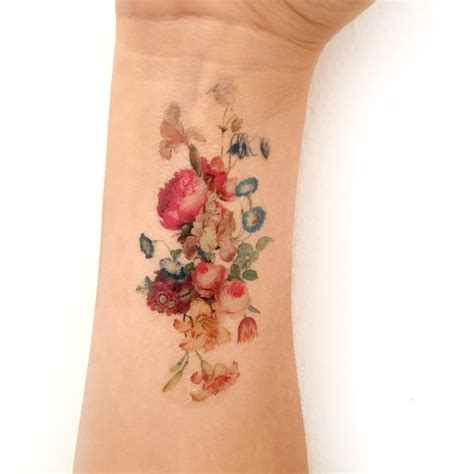 henna tattoo manitou springs vintage floral temporary fresh bouquet of flowers
