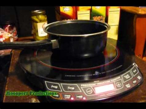 induction cooking demonstration the nuwave pic precision induction cooktop infomercial how to make do everything