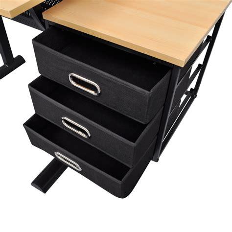 vidaxl co uk three drawers tiltable tabletop drawing