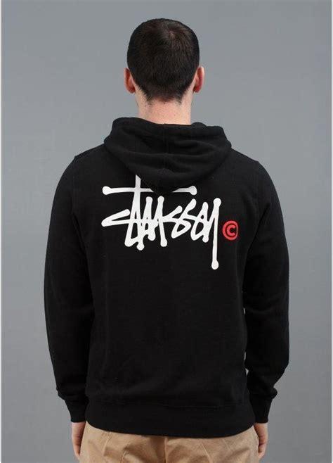 Hoodie Jumper Project You Logos stussy basic logo zip hoody black triads