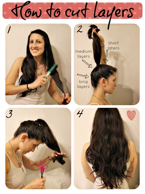 how to cut your own hair in v shape layers how to cut layers diary of a mad crafter