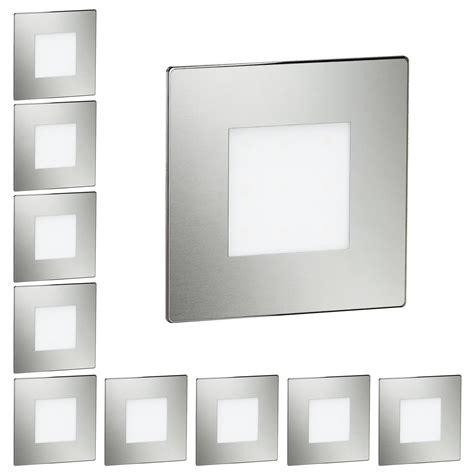 led treppenbeleuchtung led treppen licht treppenbeleuchtung eckig 8x8cm 230v