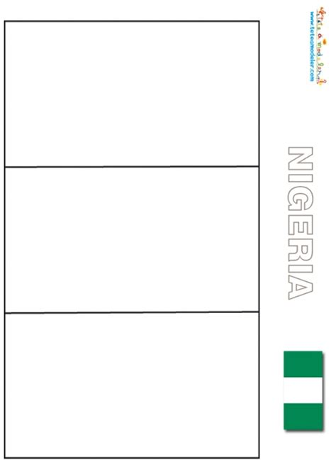 Coloriage Du Drapeau Du Nigeria Sur T 234 Te 224 Modeler