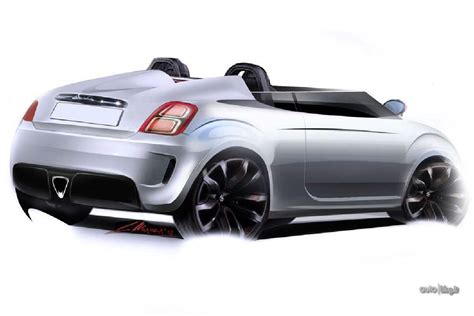 fiat roadster fiat 500 speedster and roadster imagined photo gallery