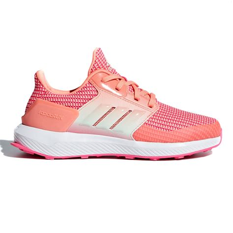 adidas rapidarun running shoes pink charcoal green sportitude