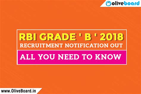 Rbi Mba Recruitment by Rbi Grade B 2018 Recruitment Notification All You