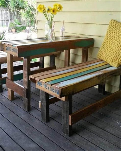22 cheap amp easy pallet outdoor furniture diy to make
