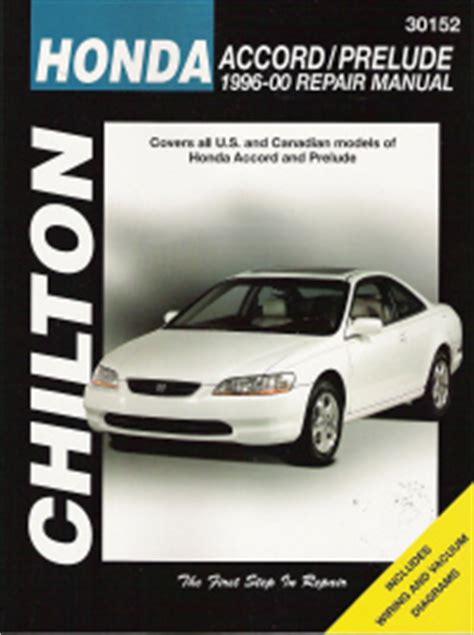 car repair manuals online free 1997 honda prelude lane departure warning 1996 2000 honda accord and prelude chilton s total car care manual