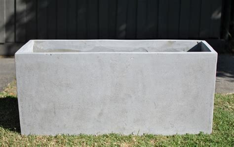 Concrete Trough Planters by Clearance Lite Concrete Trough 1mtr