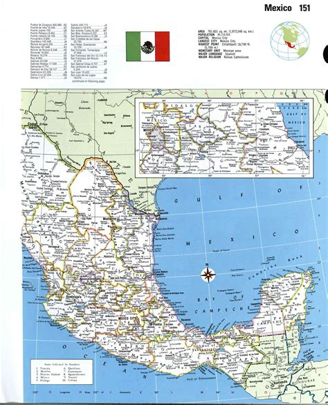 resource map of mexico mexico detailed mapfree maps of america