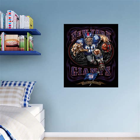 new york giants home decor defiant giant grinding it out mural wall decal shop
