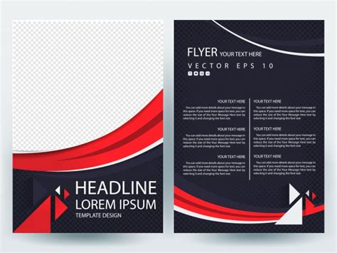 layout design freepik a4 brochure layout template with red line curve vector