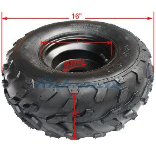 16x8 7 right front/rear wheel rim tire assembly for 110cc