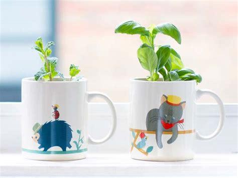 mug garden plant pot  included seeds soil  wick