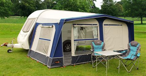 Pyramid Caravan Awnings by Pyramid Corsican Caravan Awning Blue 850 Steel Frame