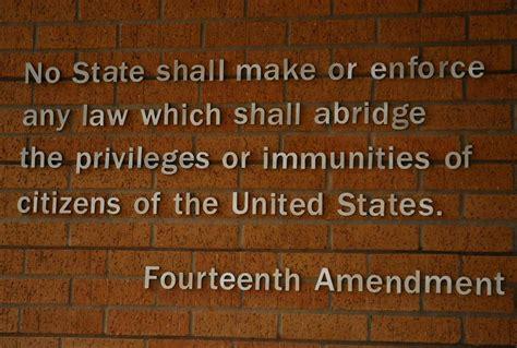 section 1 of the 14th amendment o tempora o mores november 2014