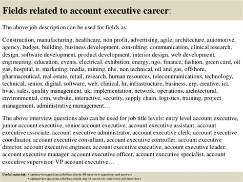 top 10 account executive questions and answers