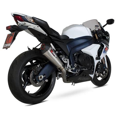 Suzuki Gsxr 1000 Exhaust Scorpion Serket Taper Satin Titanium Oval Exhaust Suzuki