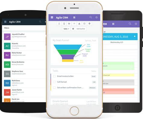 design by humans app mobile crm agile crm