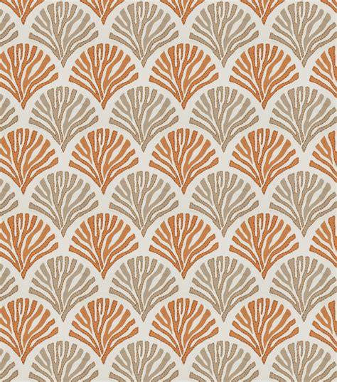 home decor print fabric eaton square intelliegence coral