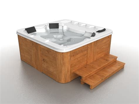 bathtub model outdoor jacuzzi tub 3d model 3ds max files free download