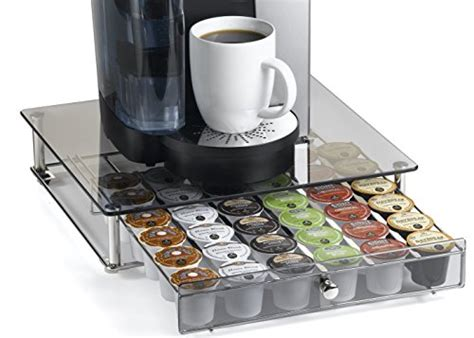 Brewed Coffee Shelf by Nifty Keurig Brewed Glass Top Storage Drawer Chrome 6475