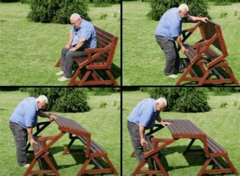 picnic table turns into bench bench that turns into a picnic table home o homey