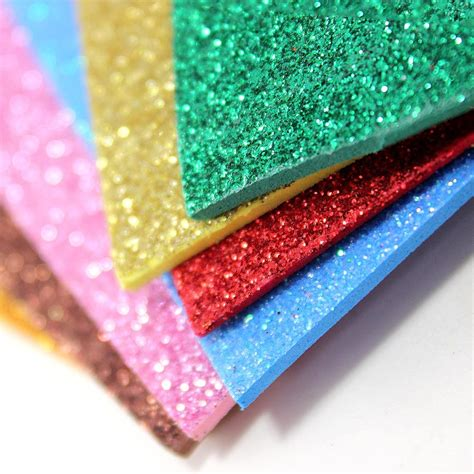 Home Decoration Craft by Maple Craft 8 Quot Glitter Foam Sheets Pack Of 10 Craft