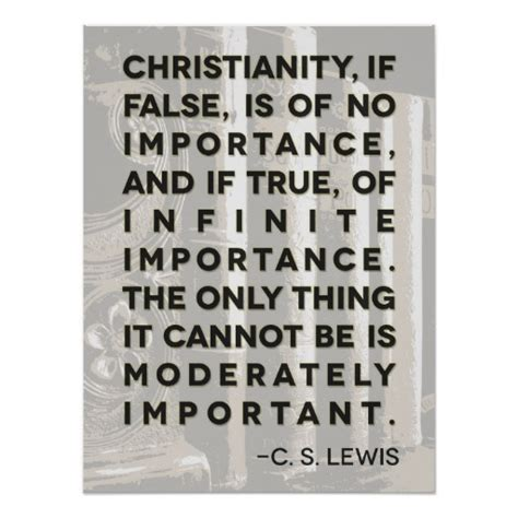new beginning cs lewis quotes christian quote c s lewis quote poster quot christianity quot zazzle