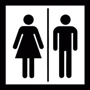 mens and womens bathroom signs men and women restroom sign