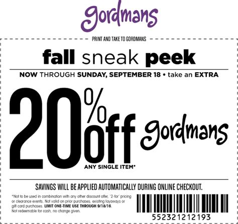 gordmans 20 off coupon november 2018