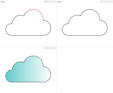 drawings of clouds simple how to draw a cloud for step by step drawings