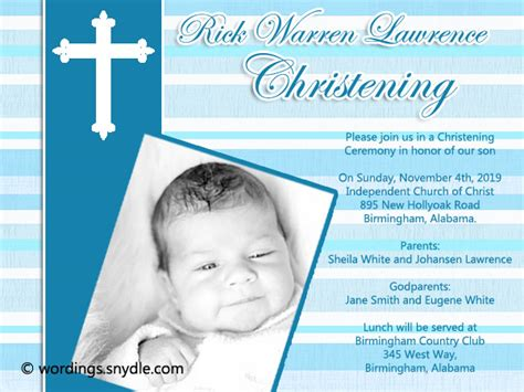 Wedding Invitation Card Christian Sle by Christening Invitation Sle Philippines Style By