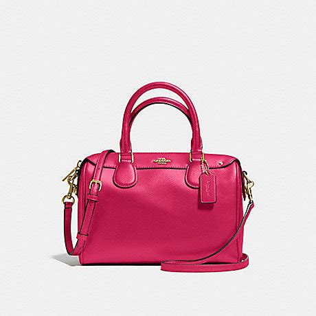 Coach Bennet Mini F57521 Crossgrain Satchel Bright coach f57521 mini satchel in crossgrain leather imitation gold bright pink coach