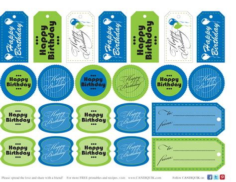 printable gift tags for birthday 6 best images of orange printable birthday tags blue and