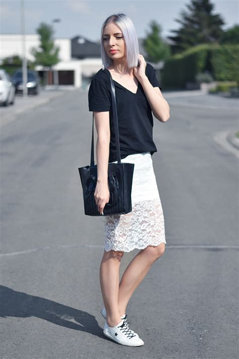 turn it inside out lace pencil skirt