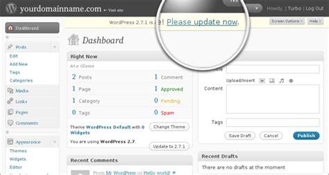 tutorial update wordpress how to update wordpress from admin panel