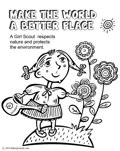 coloring pages for daisy girl scouts scout leader 411 blog daisy make the world a better