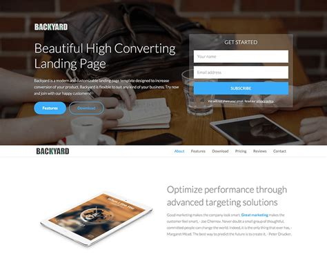 free landing page templates for bootstrap landing page template beepmunk