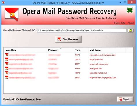 mail password email password recovery tool download opera mail password recovery v1 0 freeware