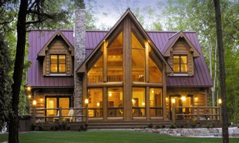 big window house plans large log cabin floor plans
