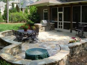 Small Garden Pit Patio Small Outdoor Patio With Pit Design Ideas For