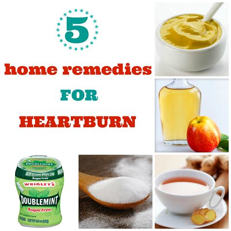 5home remedies for heartburn