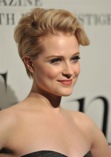 wood hairstyles updo for short hair evan rachel wood short blonde updo