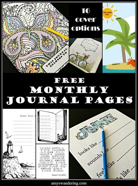 printable monthly journal covers 410 best images about printables for kids on pinterest