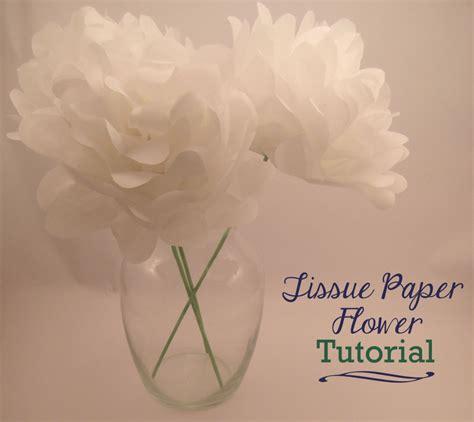 tutorial tissue paper flower tissue paper flower tutorial