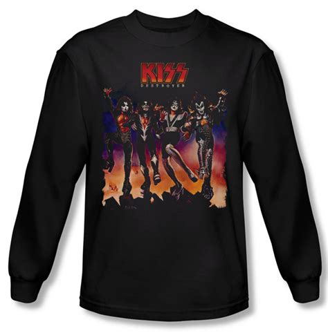 Hoodie Rock Band Dennizzy Clothing shirt rock band destroyer cover sleeve black t shirt destroyer cover shirts