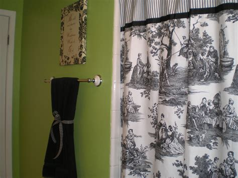 Black And White Bathroom Curtains black and white toile kitchen curtains lime green bathroom