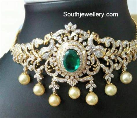 Bajuband Choker choker armlet and jhumkas jewellery designs